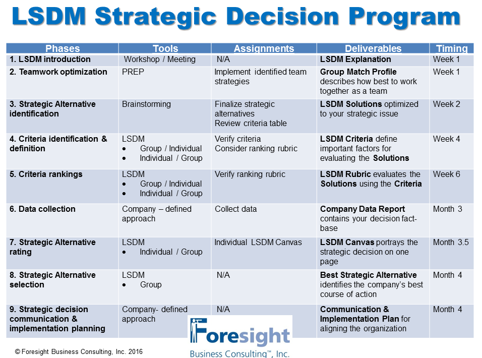 LSDM Consulting Program