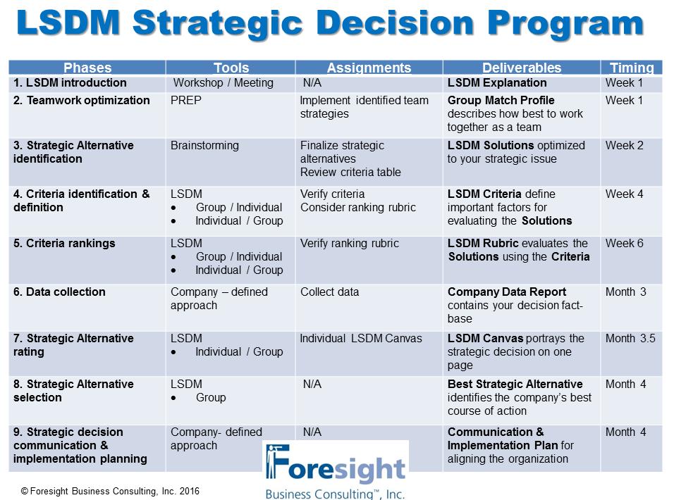 LSDM Consulting Program